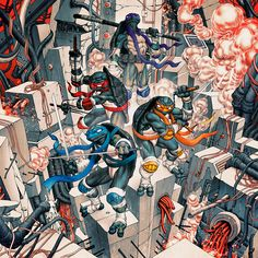 Teenage Mutant Ninja Turtles by James Jean