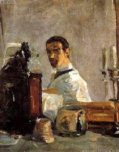 Autoportrait (c. 1882)  Huile sur carton (40 x 32)  Henri de Toulouse-Lautrec