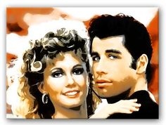 GREASE IS THE WORD Movie Pop Art print and Movie Art on gallery-wrapped frames ready to hang Delivered Free to your door with a full Money-Back Guarantee