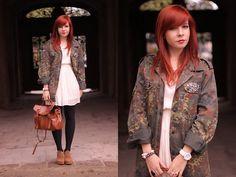 Camo jacket (by Magdalena R.) http://lookbook.nu/look/3940620-Camo-jacket