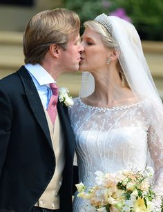 """""""A hat trick of Royal kisses for Lady Gabriella Windsor and her husband Tom Kingston at St George's Chapel Windsor. Royal Brides, Royal Weddings, Princess Alexandra Of Denmark, Prince Michael Of Kent, Queen Victoria Prince Albert, Princess Louise, Middleton Family, British Royals, St George's"""