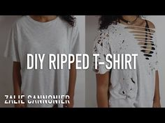 DIY Distressed & Bleached T-Shirts for Summer! ☼ Inspired by Tumblr! - YouTube