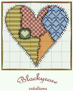 Coração alinhavado