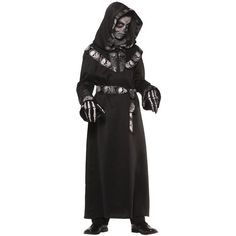 Skull Master Hooded Robe Child