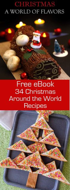 34 traditional and authentic Christmas recipes from all around the world in this FREE eBook. #Christmas #ebook #cookbook #196flavors