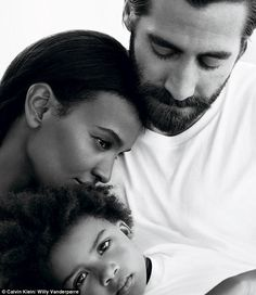 Family: JakeGyllenhaal is featured in a new Calvin Klein ad in which he portrays a father...