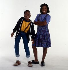 Jaleel White and Kellie Shanygne Williams in Family Matters (1989)