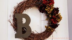 lil'Bucks Homestead Blog: DIY Personalized Fall Wreath #fallwreath #falldecor #fall