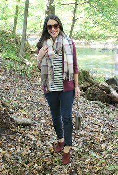 Fall Pattern Mixing // Plaid & Stripes