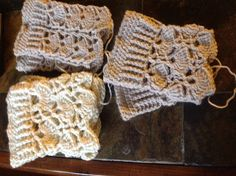 Christmas crocheted boot cuffs