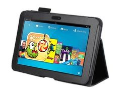 """Kindle Fire Hd 7"""" Leather Stand Case-- Black-- by Nanogy. $10.00. Our leather Kindle Fire HD (7"""") case is the perfect fit for your Kindle Fire HD tablet. Designed for anyone on the go, this case lets you access all ports, controls and cameras while keeping your Kindle tablet safe and secure. When closed in the case, the tablet screen and back are safe from fingerprints and similar damage thanks to the case's soft interior."""