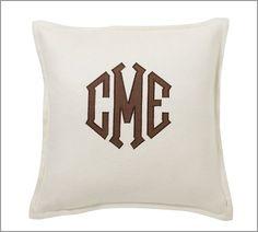 Pillow - Brown Monogram
