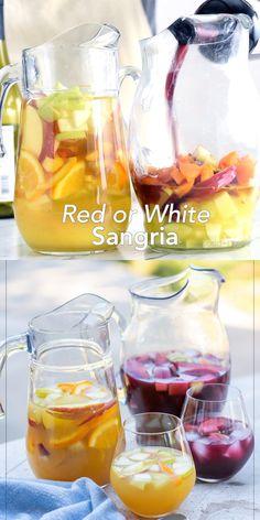 Easy White Sangria Recipe, Homemade Sangria, Red Sangria Recipes, White Wine Sangria, Coctails Recipes, Wine Recipes, White Wines, Wine Drinks, Alcoholic Drinks