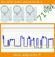 Elro SC07/3 Mini alarme lot de 3 (Outils et accessoires). Réduction de 71%! Prix actuel 2,83 €, l'ancien prix était de 9,81 €. https://www.adquisitio.fr/elro/sc073-mini-alarme-lot-3