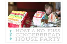 Two great tips for setting up a gingerbread house decorating station in a snap!