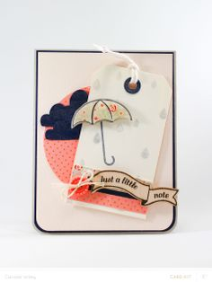 Umbrella Note Card by carissawiley at @Studio_Calico #SCofficehours