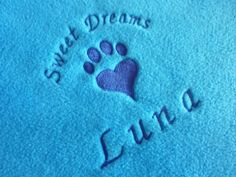 Personalised Embroidered Fleece Blanket for by ForTheLoveOfCatsUK