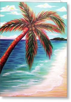 Print Tapestry by R Walters Painting Prints, Canvas Prints, Tree Art, Wood Print, Palm Trees, Greeting Cards, Waves, Tapestry, Wall Art