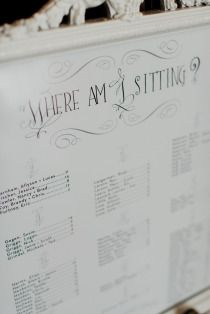 Smart. Organising sitting arrangement by guest's names, instead of table numbers.