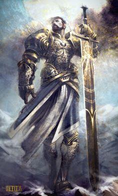 Daelegoth Orndeir, líder do culto herege do Sol Ascendido, (Male elite fire genasi cleric 10, sunmaster 10, evangelist 5, LN Medium outsider (native))