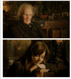 """This was the sweetest scene in the entire episode.  He is so old, and Clara is so loyal.  He has lied to her and sent her away TWICE, but yet she still comes back to just """"be there"""" for him.  Complain about Clara all you want, but I will always love and admire her for her bravery and loyalty."""