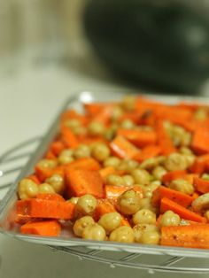 Grilled carrot & Chickpea salad