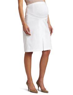Maternal America Women`s Twill Pleated Skirt