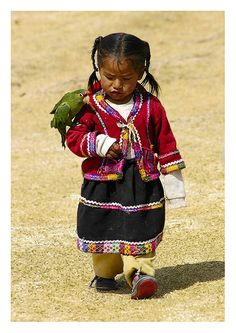 Little girl with bird from Cusco Peru | by Aubrey Stoll