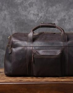 Cool Leather Mens Weekender Bag Travel Bag Duffle Bags Holdall Bag for men  Laptop Shoulder Bag 489340c710baa