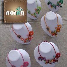 Bijuteria Artesanal , colares em fimo e crochet bijuteria no caseiro.pt por Norna Biju em