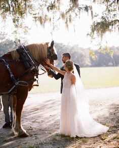Happily-ever-after here we come... By horse and carriage and surrounded by dreamy light. Swoon. ✨✨✨ #LinkInProfile #CharlestonWeddingGuide…