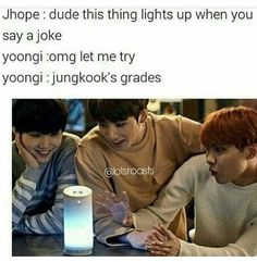 Yoongi.. that's not a Lie Detector XD