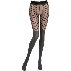 Pierre Mantoux Women Herringbone & Polka Dot Tights (815 CZK) ❤ liked on Polyvore featuring intimates, hosiery, tights, dotted stockings, polka dot pantyhose, dot tights, polka dot stockings and polka dot hosiery