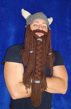Free Crochet Viking Beard Pattern. Too funny!  I think I just found a great idea for my next White Elephant party!