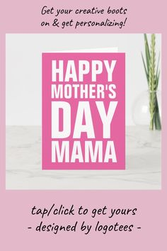 Shop Happy Mothers Day Mama greeting card for mom created by logotees. Mothers Day Ad, Happy Mothers Day Pictures, Mothers Day Crafts, Earth Day Projects, Earth Day Crafts, Kids Part, Earth Day Activities, Mom Funny, Toddler Crafts