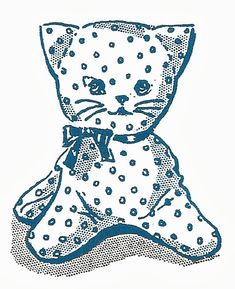FREE vintage kitty cat softie pattern!