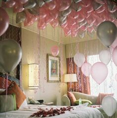 I would love to wake up to flowers and balloons!