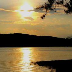 Georgia's Lake Lanier at sunset.
