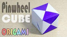 Origami Modular Cube-1 : Pinwheel Pattern module Hexahedron