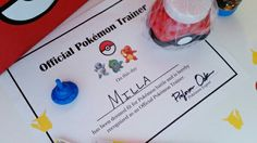 After all the fun and games, let your party guests be recognized as official Pokémon trainers! Download the pdf at eversosweetparty.wordpress.com