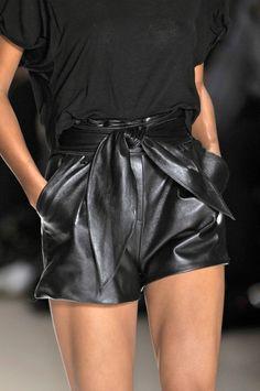 leather shorts <3