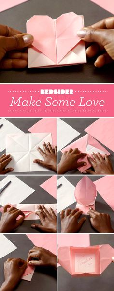 Don't break hearts. Make hearts. Valentine's Day origami.