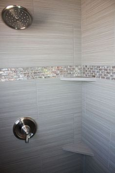 Tile design in master bathroom shower Tile design in master bathroom shower Master Bathroom Shower, Tiny House Bathroom, Bathroom Renos, Grey Bathrooms, Bathroom Flooring, Beautiful Bathrooms, Bathroom Ideas, Bathroom Showers, Bathroom Renovations