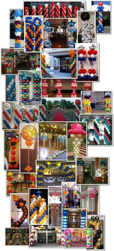 Balloon Columns - by Bunch of Balloons