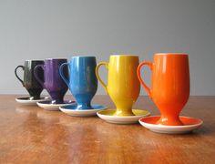 Mid Century Tackett for Schmid Cups / Saucers. $43.00, via Etsy.