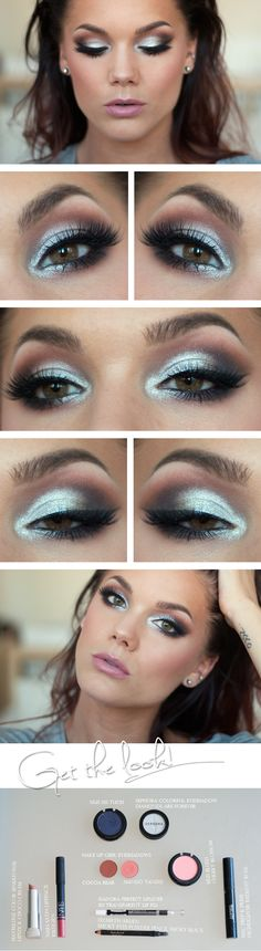 """Today's Look : """"Bright Lights"""" -Linda Hallberg (A gorgeous light and bright look using Sephora's eyeshadow in Diamonds are Forever, MUG shadows in Cocoa Bear and Mango Tango and MUS MS Tuch with a the perfect pink lip) 07/17/13"""
