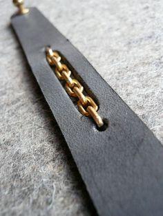 slate chain cuff.