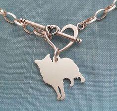 Border Collie Dog Chain Bracelet Sterling Silver by DiBAdog