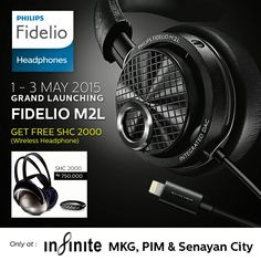 Come and Join us..  Philips Fidelio M2L product launch @infinite MKG/SENCI/PIM  1-3may 2015 Promo : Buy fidelio M2L get FREE SHC2000 and Disc 15% for other selected items  #isound #philips #productlaunch #headphone #highsoundquality #withLightningConnector #bulitinDAC #appledevice #exclusive