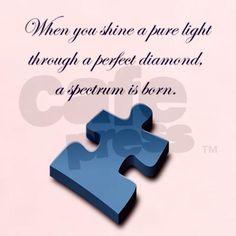 When you shine a pure light through a perfect diamond, a spectrum is born.